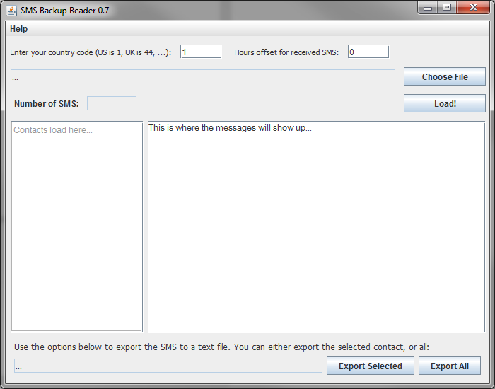 SMS Backup Reader (PC/Mac/*nix/Web) | Matt Joseph